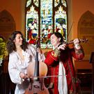 Musicians Niall O'Reilly and Sebastian Marquez Blanc at the launch of the Ardee Baroque Festival 2015 at St. Mary's Abbey in Ardee