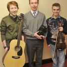 Jamie Conlon, Feargal McArdle and Paul Gilgunn at the Christmas Concert in Colaiste Rís