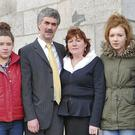 The family of the late Terry Brennan outside Dundalk Circuit Court last week (from left): brother Niall, sister Sarah, dad John, mum Frances, sister Grace and brother Tony Brennan