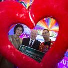 Dundalk native Eddie McGuinness, organiser of the upcoming LGBT Outing festival at the Lisdoonvarna matchmaking festival, pictured with Minister Michael Ring at the weekends Holiday World Show in Dublin
