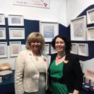 Senator Mary Moran with Sarah McKenna from Sarah McKenna Ceramics located in Bridge Street Studios, Dundalk