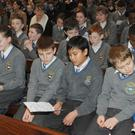 Pupils from CBS NS at Seinn 'Songs of Praise' service held in The Church Of The Holy Redeemer