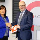 Vice Chairperson of Louth County Council, Councillor Dolores Minogue and Minister for Business and Employment, Ged Nash, TD at the launch of Louth Economic Forums Broadband Action Plan