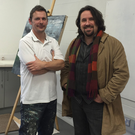 Artist Sean Cotter with Louth County Council arts officer Brian Harten