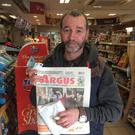 Eddie Lawless, O'Hanlon Park, who bought his copy of The Argus in Londis, Castletown Road