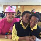 Karen McArdle in one of the local schools in Cape Town