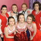 Fiona Cosgrove, Caroline Ebbs, Amy O'Hare, Dearbhla Lenehan, Dairine White, Roisin Osborne and Abbie Cunningham, who are appearing in the musical 'Grease' in St. Louis Secondary School, March 14-16