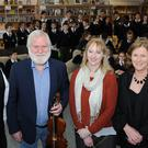 To celebrate World Book Day which took place last week, students of Dundalk Grammar School were given an insight into the world of poetry and music by John Sheahan of The Dubliners and renowned Dublin poet Tony Curtis, who are pictured here with Junior School Principal Elaine Lait (right) and teacher Odhnarnait Ó Reilly