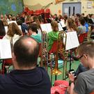 Cross Border Orchestra in rehearsals