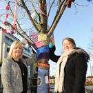 Fiona Cunningham and Sinead Roche at Market Square for International Women's Day