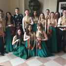 CBOI Ensemble performing at the White House, back row from left, Liam Monagher, Treasa Toner, Grahame Harris, Richie Dunne, Aisling Dunne, Roisin Ward-Morrow, Oisin Drumm, Caoilfhionn D'Ary, Anna McKenna, Cormac Keegan, front row, Patricia Treacy, Maria Dawe, Deirdre Kenny