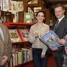 Amanda Branigan, Senior Executive Librarian with Andreas Visockis, Second Secretary Lithuanian Embassy, EJ Vaitkus and Sigita Janluinaite, Dundalk Lithuanian Community at the presentation of Lithuanian Children's books to the County Library by members of the Lithuanian comminity to mark International Children's Book Day