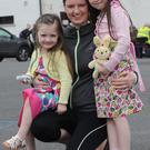 Sue, Zoe and Lily McClean at the Stonetown 5K Walk and Fun Run with Fifi the rabbit. Photo: Ken Finegan