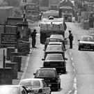 A border security checkpoint at Newry, once a familiar sight