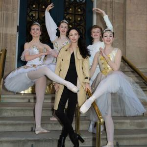 Megan Mullen (left) pictured with her teacher Monica Loughman (centre) and fellow ballerinas Alana Borza, Victoria Young and Anthony White