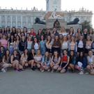 St Vincent's transition year students on their end of season trip to Madrid
