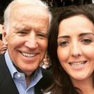 Joanne McCann met Joe Biden during his visit to Carlingford