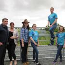 Members of Fane Bridge Macra who are working with Knockbridge Tidy Towns