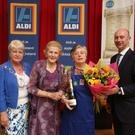 National Brown Bread Baking Competition semi-finalist Adrienne McEnteggart-Boyle pictured with Marie O'Toole of the Irish Countrywomen's Association, Anna May McHugh of the National Ploughing Association and James Deeney from Aldi