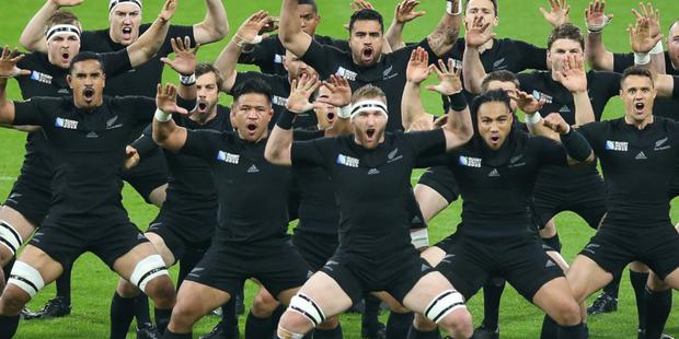 All Blacks perform haka