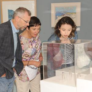John, Mary and Anne Horan at the 'Into the Blue' exhibition at Verling Fine Art, Murphy's Lane, Blackrock