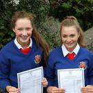 St. Vincent's students Ruth Clarke, Bronagh Cassidy and Aoife Begley who each achieved an incredible 11 As at Higher Level in their Junior Certificate Exam