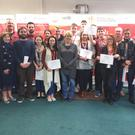 Learners who recently completed a course at Regional Skills & Training Centre in conjunction with SalesSense