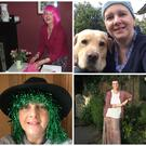 Some of the photos chronicling Margaret Roddy's battle with breast cancer