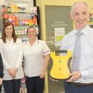 The staff in Connolly's Pharmacy, Greenacrees Shopping Centre, Aine Lewis, Lisa Copas, Rachel Duffy and Donough Connolly