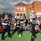 Sport Against Racism (SARI) director Brian Kerr joined Dundalk FC manager Stephen Kenny and primary pupils from St. Nicholas Monastery School for social inclusion and anti-discrimination training