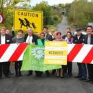 Green Party at Carrickaneena border crossing between Co Louth and Armagh
