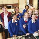 Chef Adrian Martin, left, with the pupils