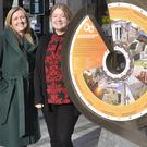 Miriam Roe and Sinead Roche with the new Ireland's Ancient East Orientation Sign