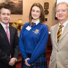 Aoife McGeough, pictured with Damien English, T.D.,Minister of State and Mr Gerard Kiely, Head of Representation, European Commission Representation in Ireland