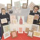Naoise Waring and Alison Kieran, St. Brigid's School, 'Criss Cross Company', appearing at the Mini Companies Craft Fair in The Marshes Shopping Centre on Wednesday 14th December. Bobbie Johnston is also part of the team