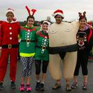 Dressing up for Christmas Day at the DkIT GOAL Mile