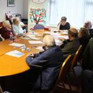 The local COPD support group meeting in the Cottage Hospital