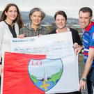 The Big Blue Box initiative saw Bank of Ireland staff and members of the local community travel by bike through 29 towns along Ireland's Ancient East in September, raising €100,000 in total for the Irish Heart Foundation