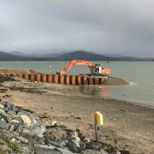 Work underway at Greenore