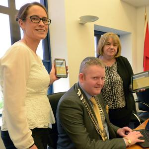 Pictured at the launch of Louth County Council's new website, www.louthcoco.ie, are Chief Executive of Louth County Council, Joan Martin; Leas Cathaoirleach of Louth County Council, Councillor Conor Keelan and Director of Services Emer O'Gorman