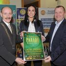 Michael Gaynor, Eve McCrystal and David Minto at the official launch of the St. Patrick's day parade held in The Town Hall