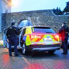 Gardai setting out on Tuesday morning's raids
