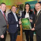 Cllr. Conor Keelan, David Minto, Eve McCrystal and Michael Gaynor at the official launch of the St. Patrick's day parade held in The Town Hall.