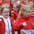 Dancekids at the St. Patrick's Day Parade held in Dundalk. Picture: Ken Finegan