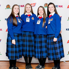 St. Vincent's students who are in the running for the Certified Irish Angus Beef schools competition, Aine McDonnell, Katie Quinn, Lucy Reidy, Aishling Gamble and Emma Gartlan