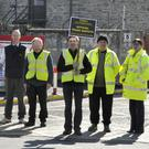 Members of Bus Eireann out on strike during their recent industrial dispute at the Bus depot on the Ardee Road