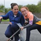 Molly McEnteggart and Caroline Watkins at the Spring Clean