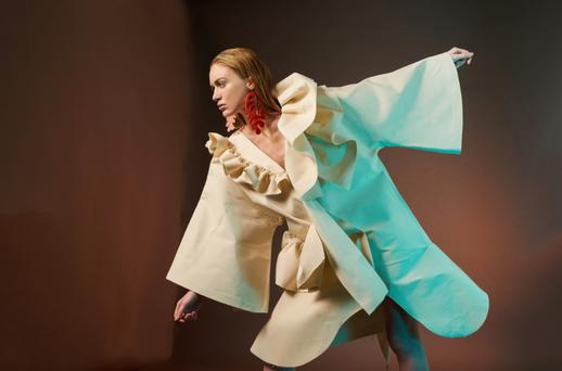 One of the beautiful coats from the 'Oige' collection