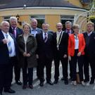 Members of the EU delegation meet with local business leaders in the Carrickdale Hotel.