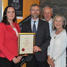 Blackrock Tidy Town members John Horan, Eileen Carter, Richard Martin and Pat Rafferty with Cllr's Maria Doyle and Mark Dearey after they received their award from Cllr. Mark Dearey, Chairman Municipal District of Dundalk at the inaugural Civic Awards Presentation Ceremony held in the County Museum. Picture: Ken Finegan